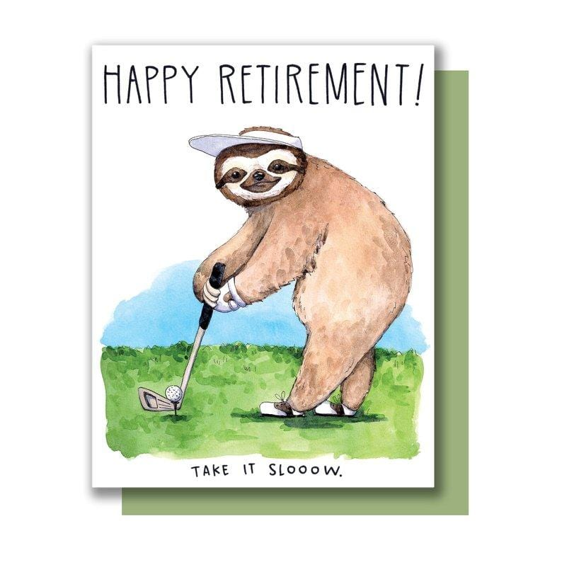 Sloth Retirement Single Card