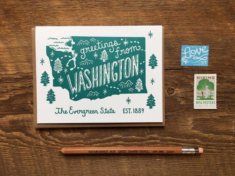 Greetings from Washington Single Card