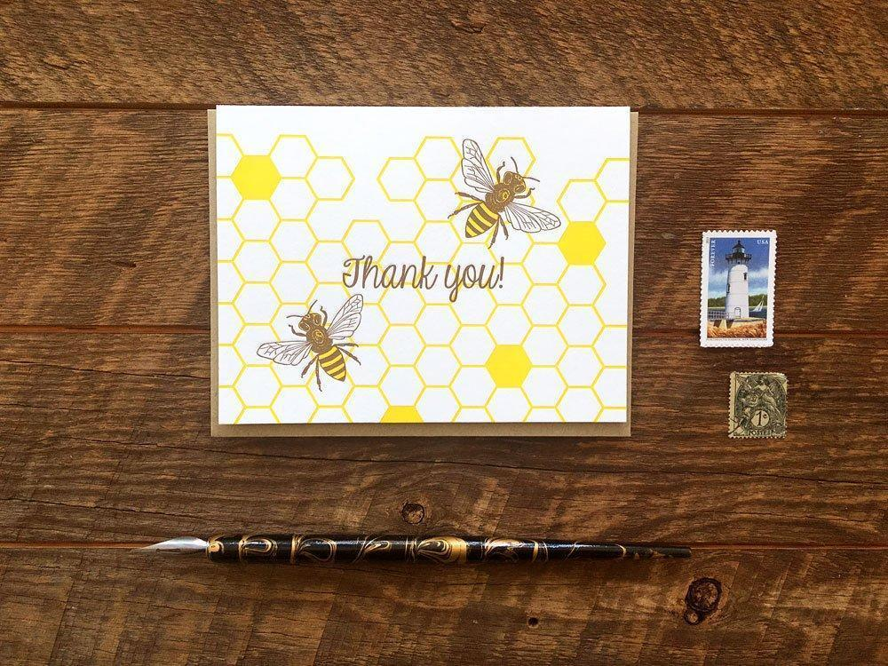 Honey Bees Thank You Card