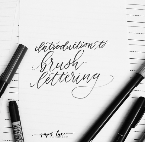 Introduction to Brush Lettering - May 11, 2018