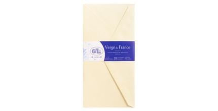G. Lalo Verge de France Envelopes - Ivory 4 3/8 x 8 5/8 in