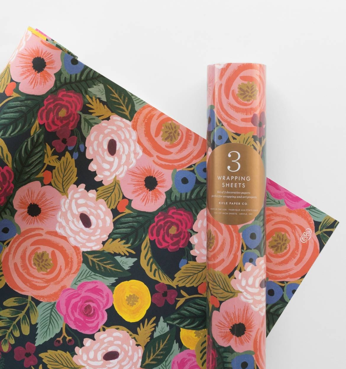 Rifle Paper Co Juliet Rose Gift Wrap Sheets