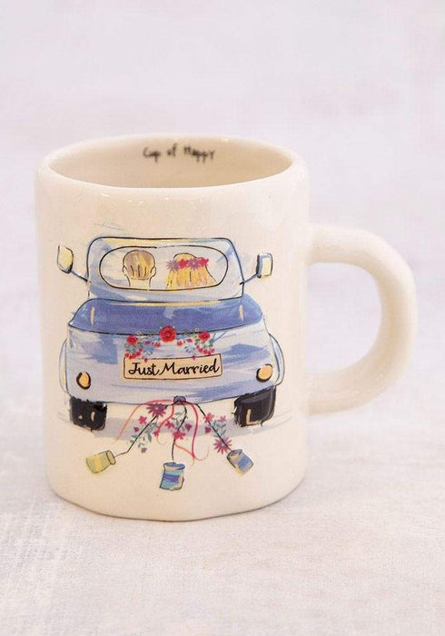 Just Married Embossed Mug