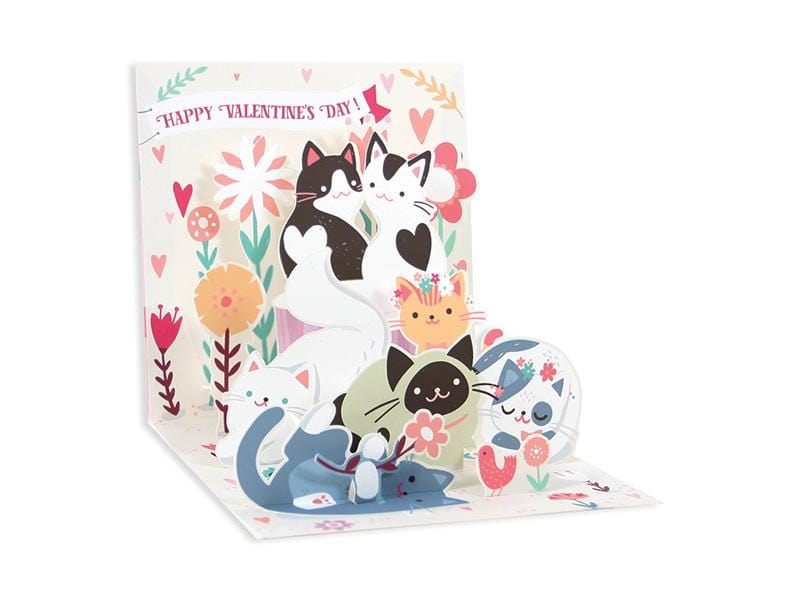Kitty Love Valentine Pop-Up Card