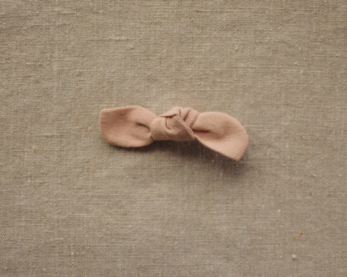 Linen Top Knot Assorted Bows on Clip