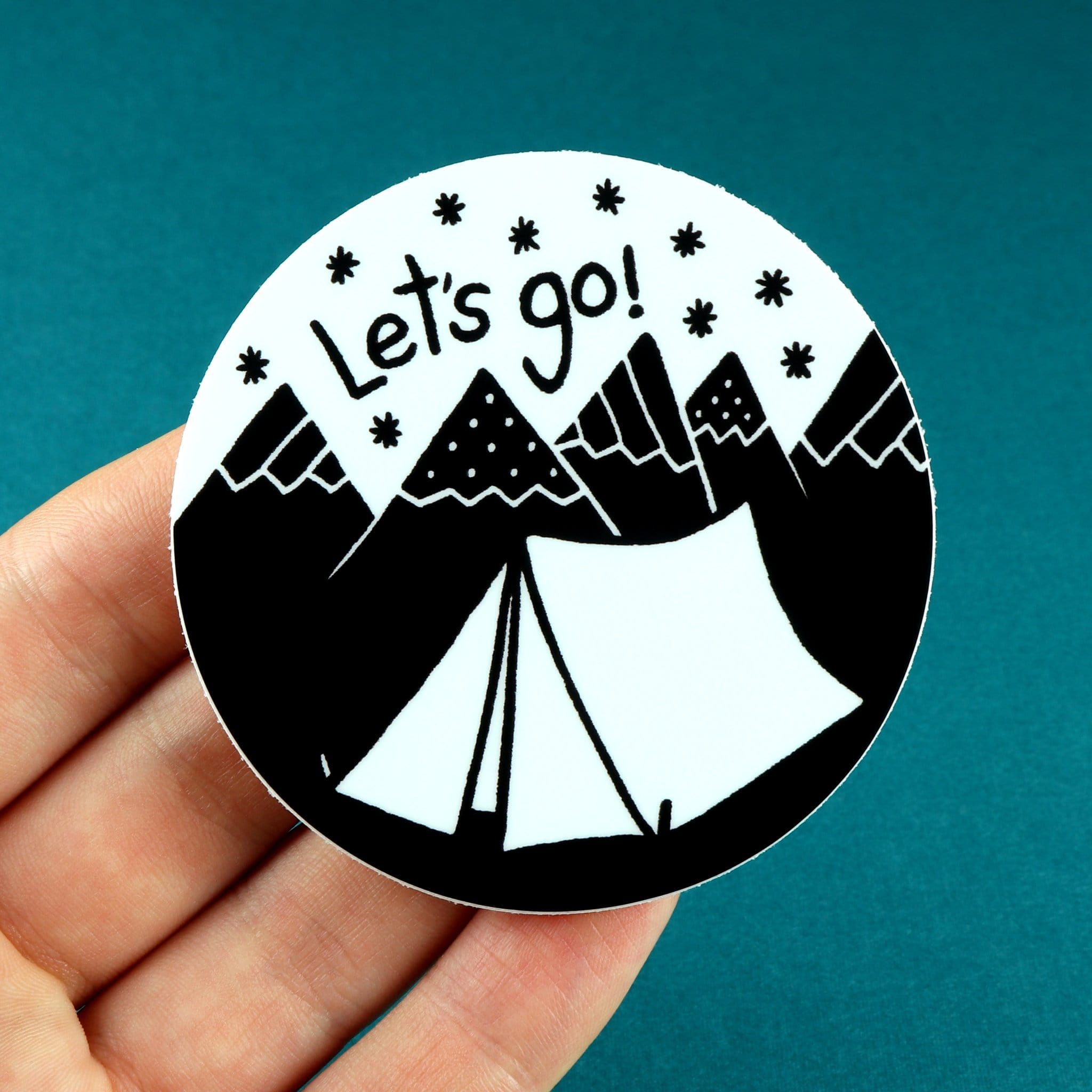 Let's Go Camping Sticker