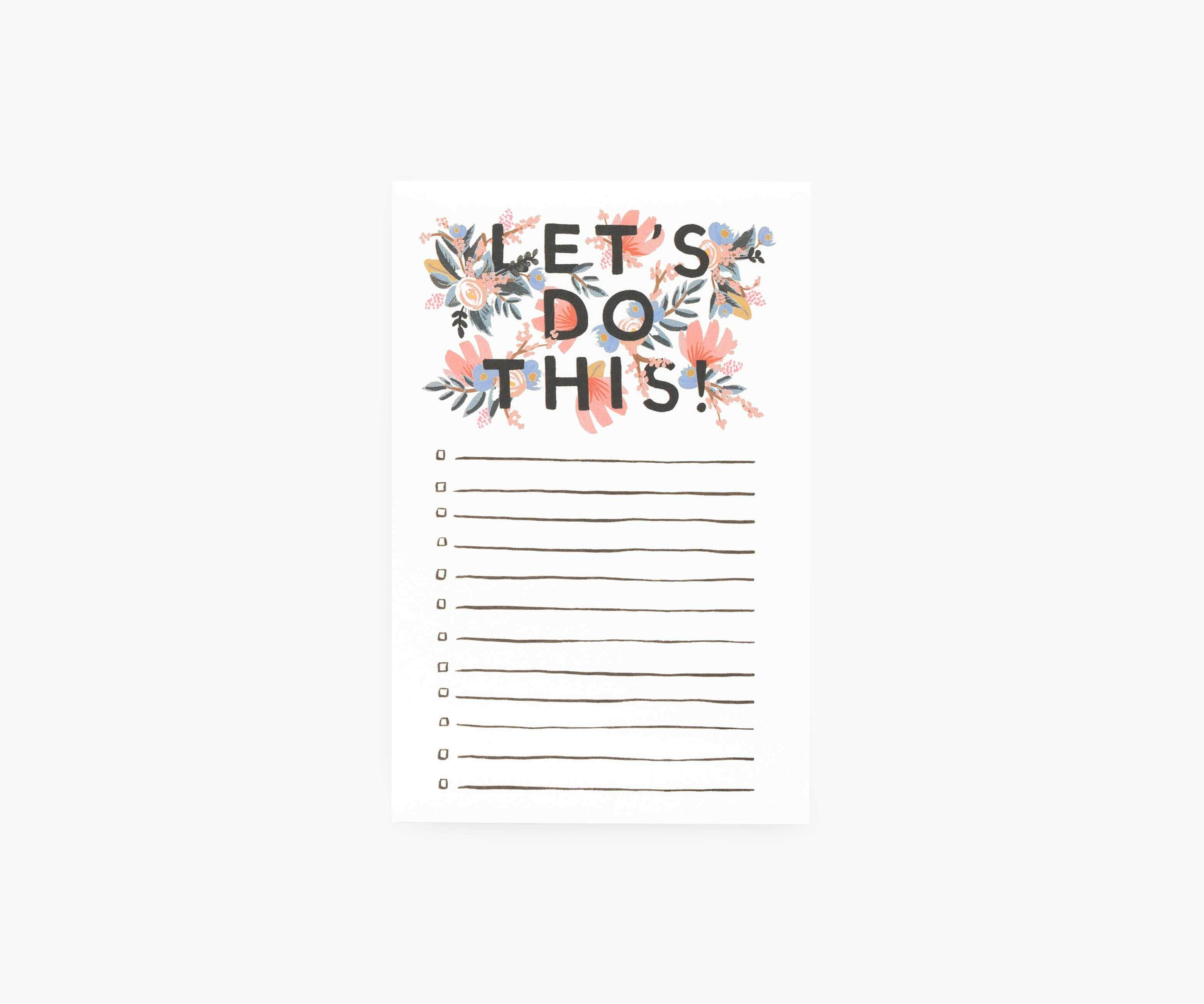 Let's Do This Checklist Notepad