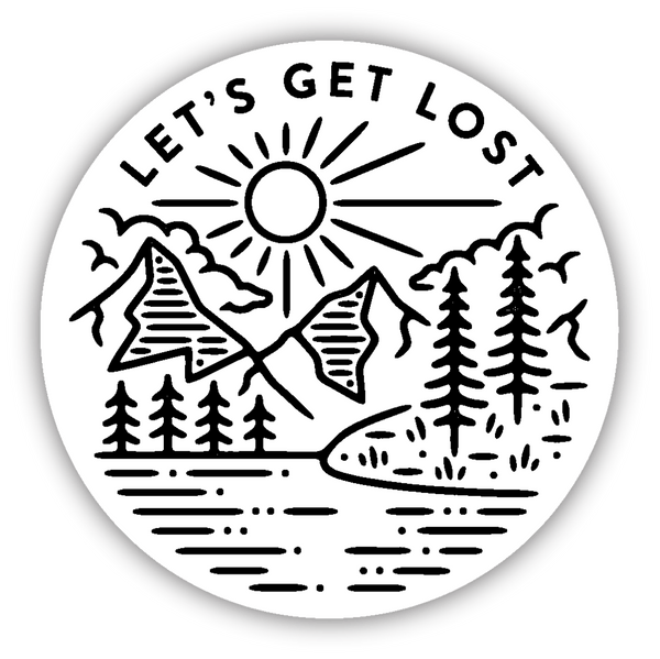 Let's Get Lost Sticker