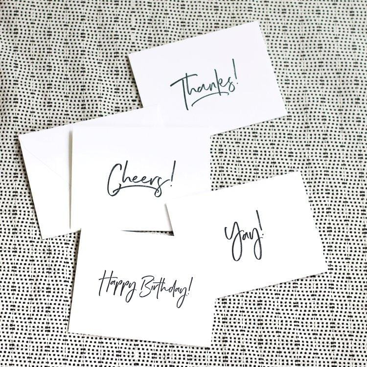 Cheers! Letterpress Card