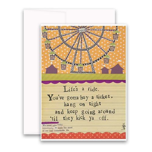 Life's a Ride Greeting Card