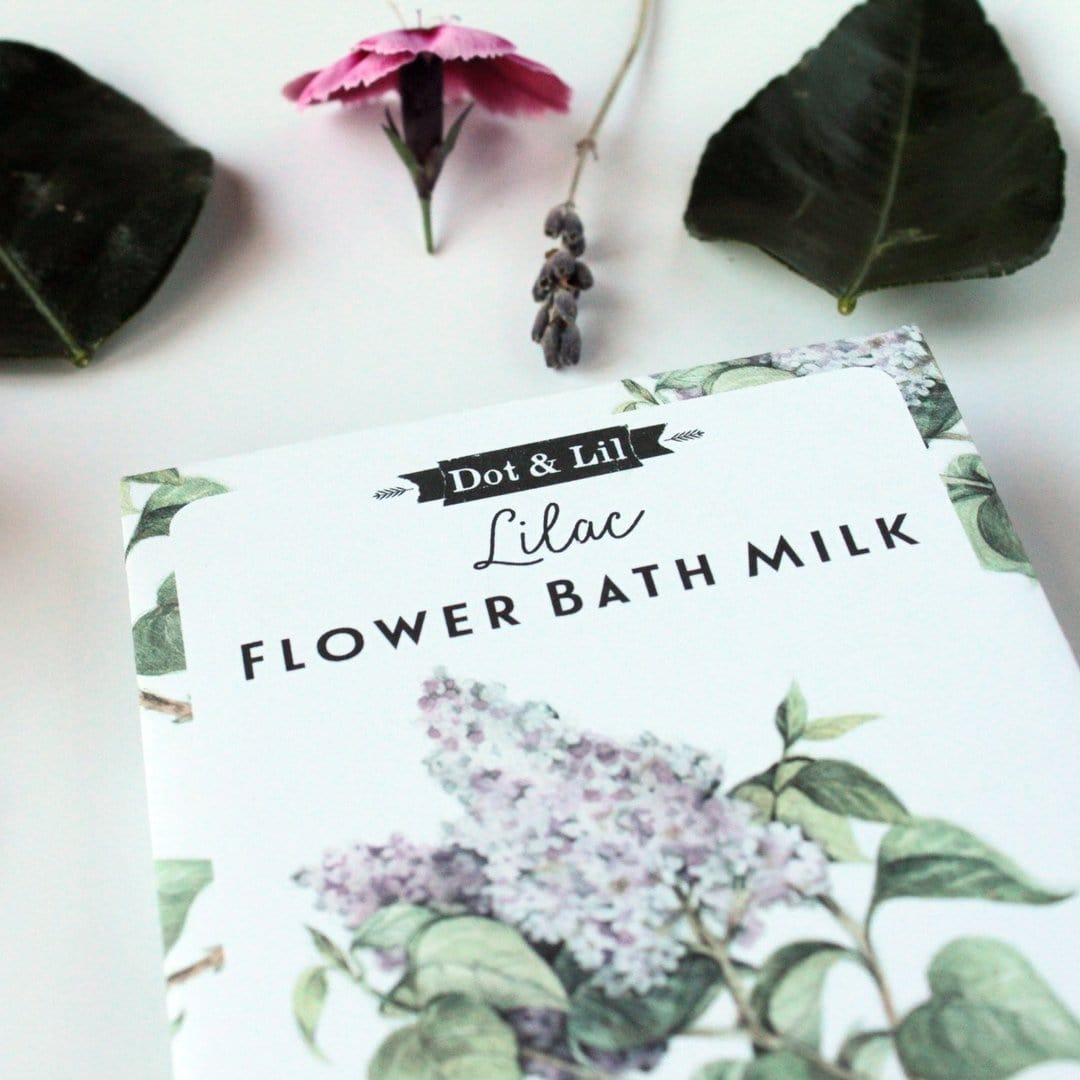 Lilac Flower Bath Milk Sachet