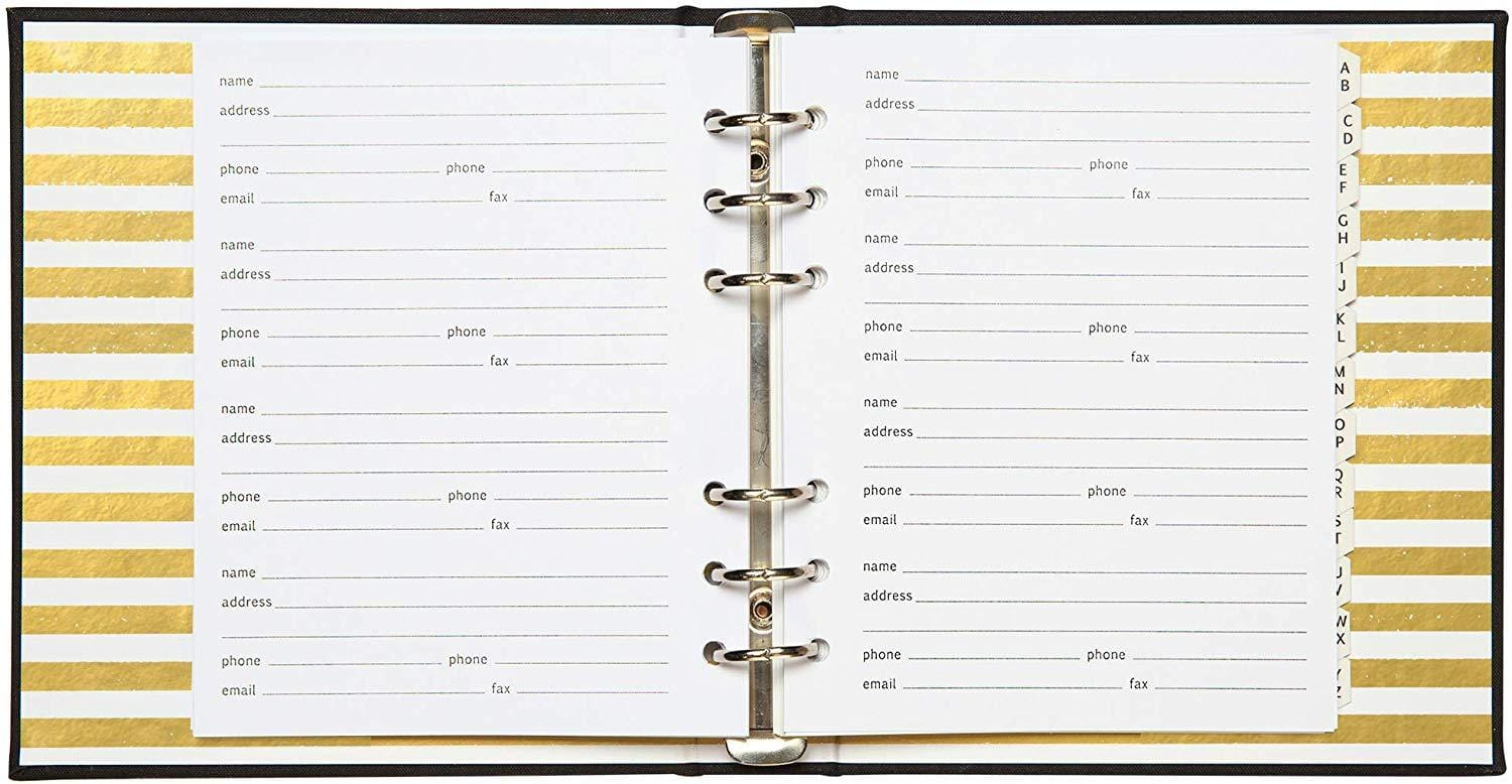 Refillable Address Book - Little Black Book