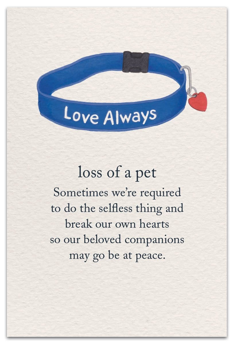 Loss of a Pet Sympathy Card