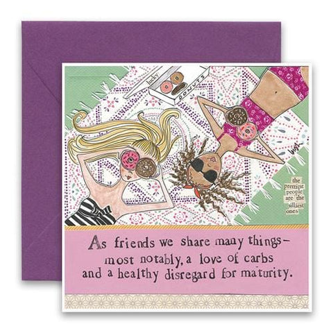 Love Of Carbs Greeting Card