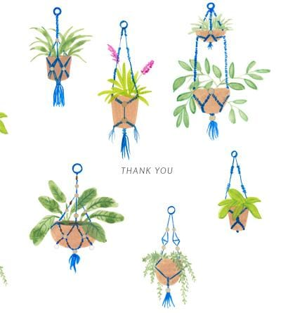 Thank You Macrame Card