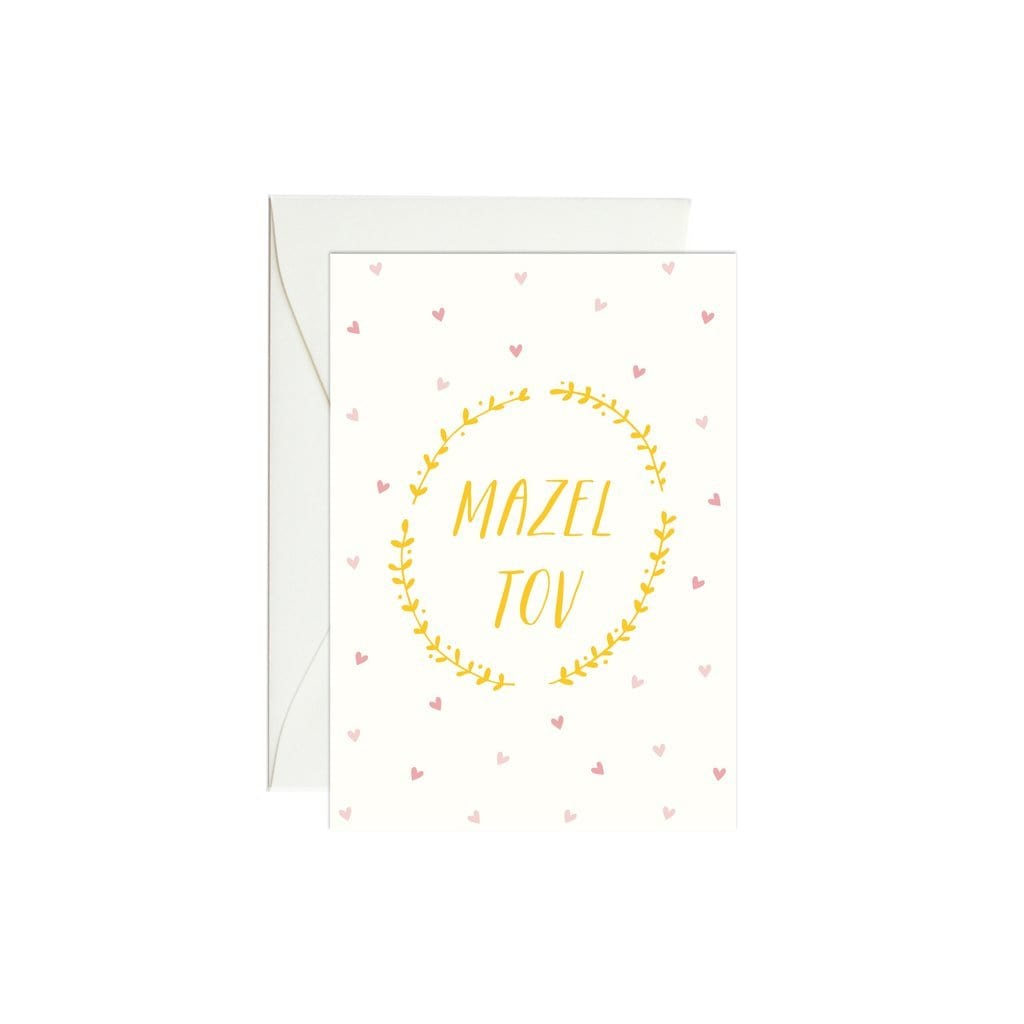 Mazel Tov Vines Mini Enclosure Card
