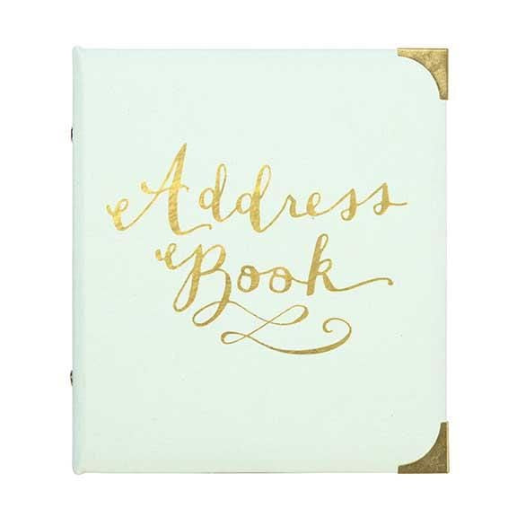 Mint and Gold Address Book