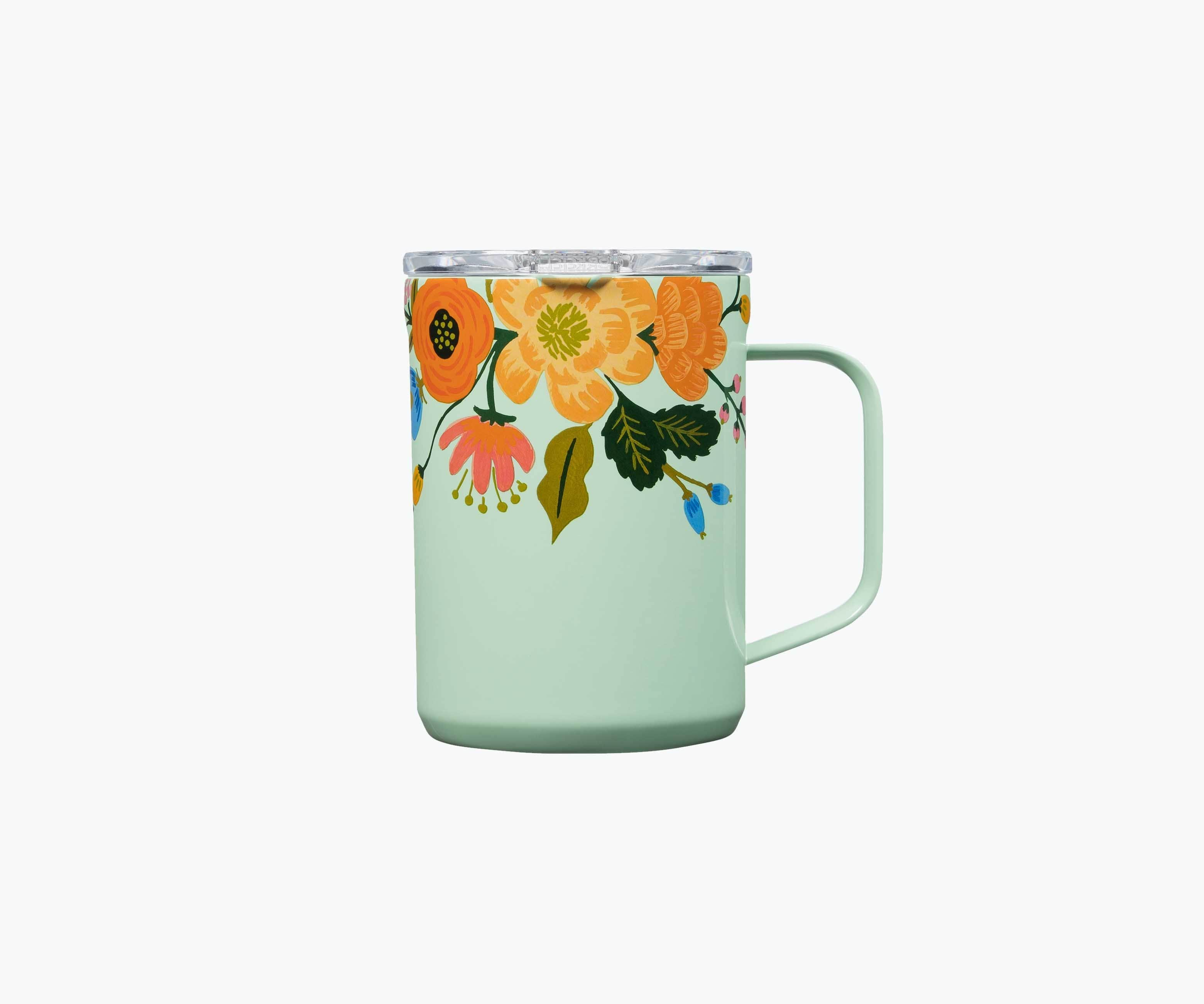Rifle Paper Co. x Corkcicle Mug - Mint Lively Floral