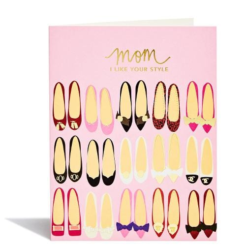 Mom Shoes Mother's Day Card