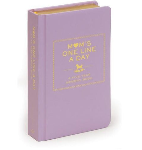 Mom's One Line a Day  A Five-Year Memory Book