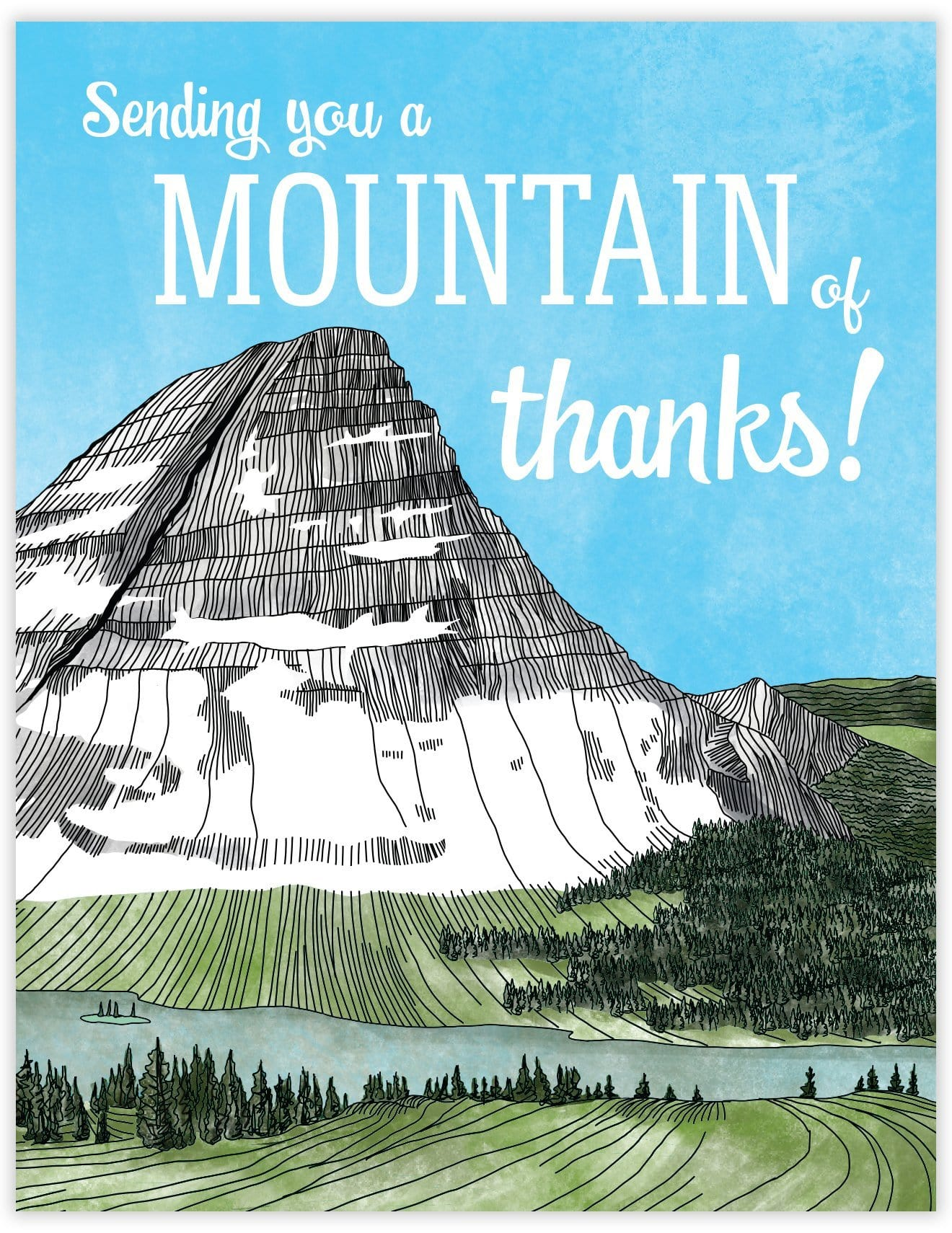 Mountain of Thanks Card
