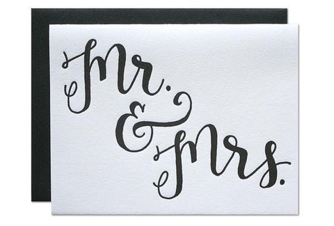 Mr. and Mrs. Wedding Card Parrott Design