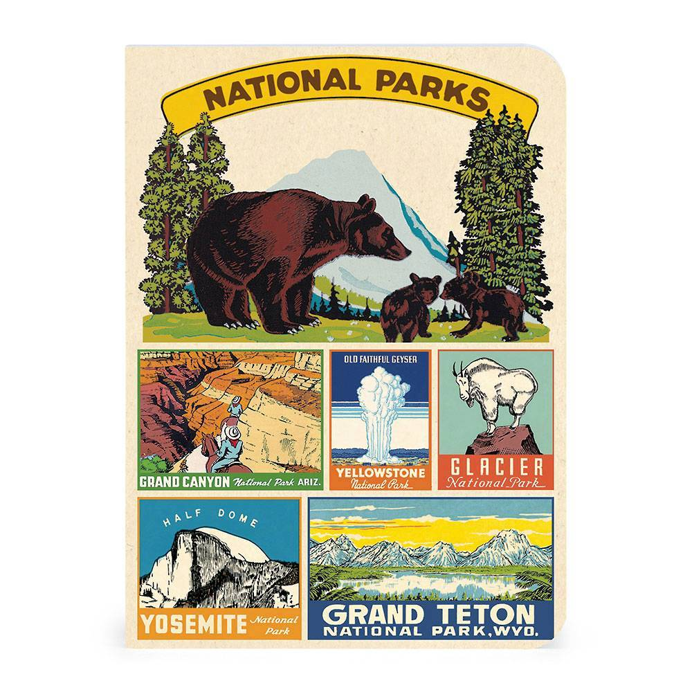 National Parks Mini Notebooks - Set of 3