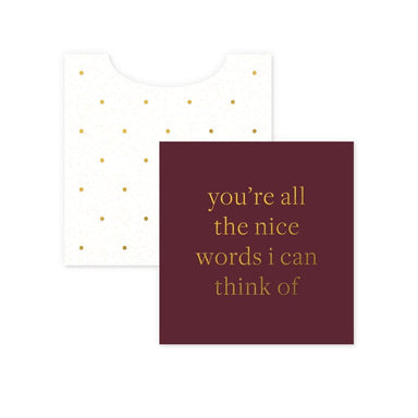 Nice Words Mini Enclosure Card