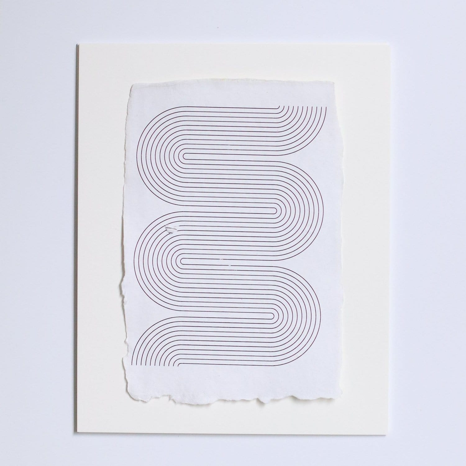 Geometric Raw Edge Print Single
