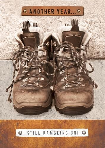 Old Hiking Boots Card