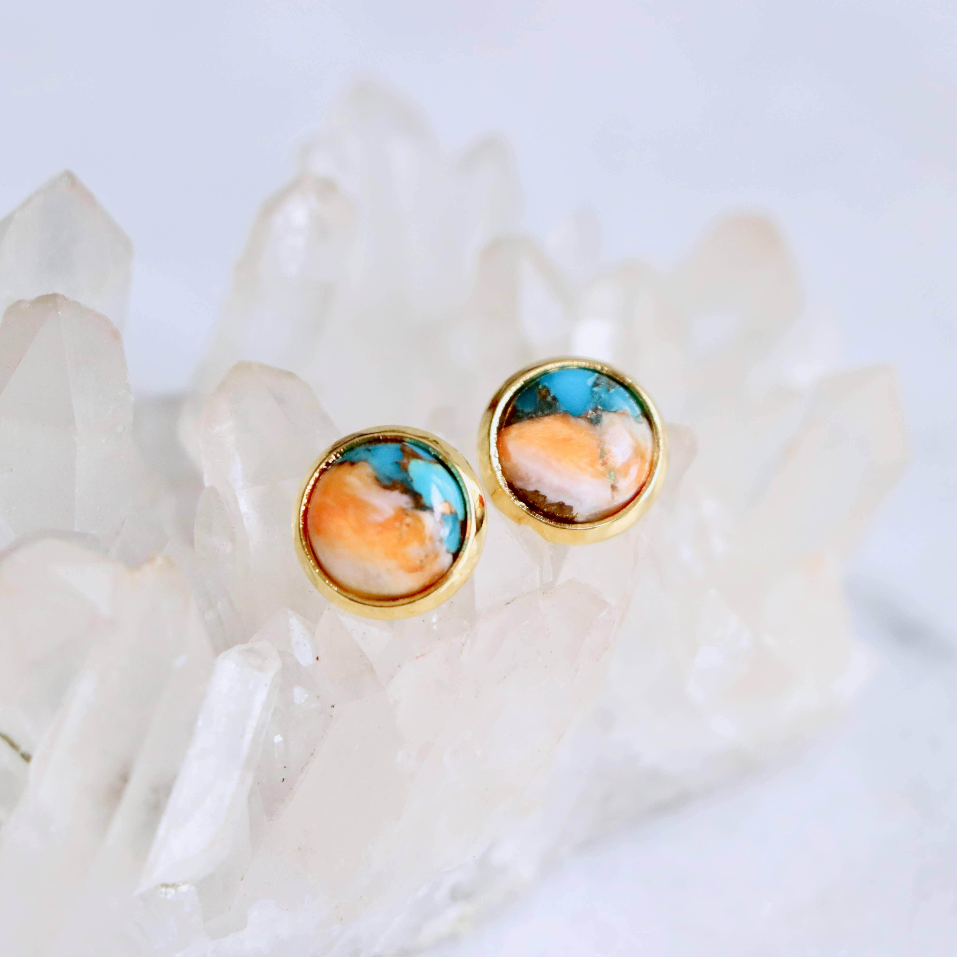 Oyster Turquoise Stud Earrings