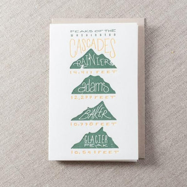 Peaks of Cascade Mountains Card