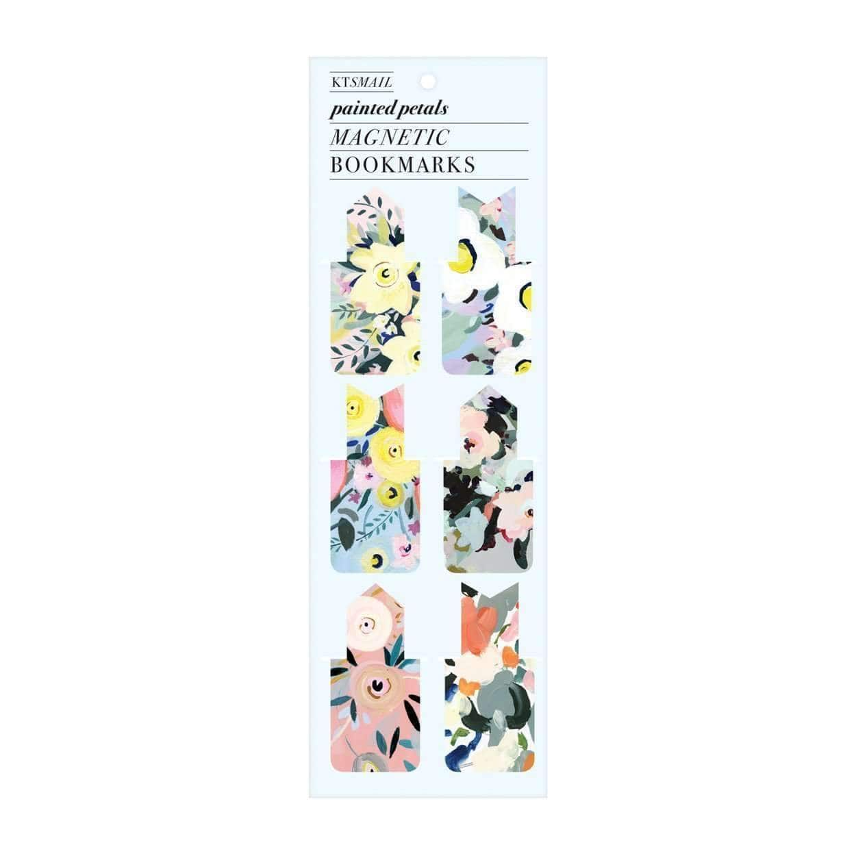 Painted Petals Magnetic Bookmarks