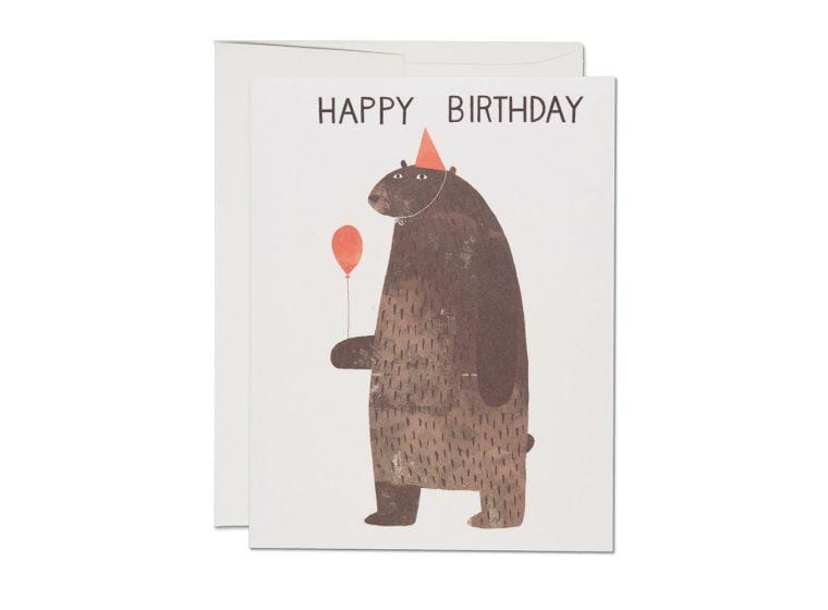 Party Bear Birthday Card