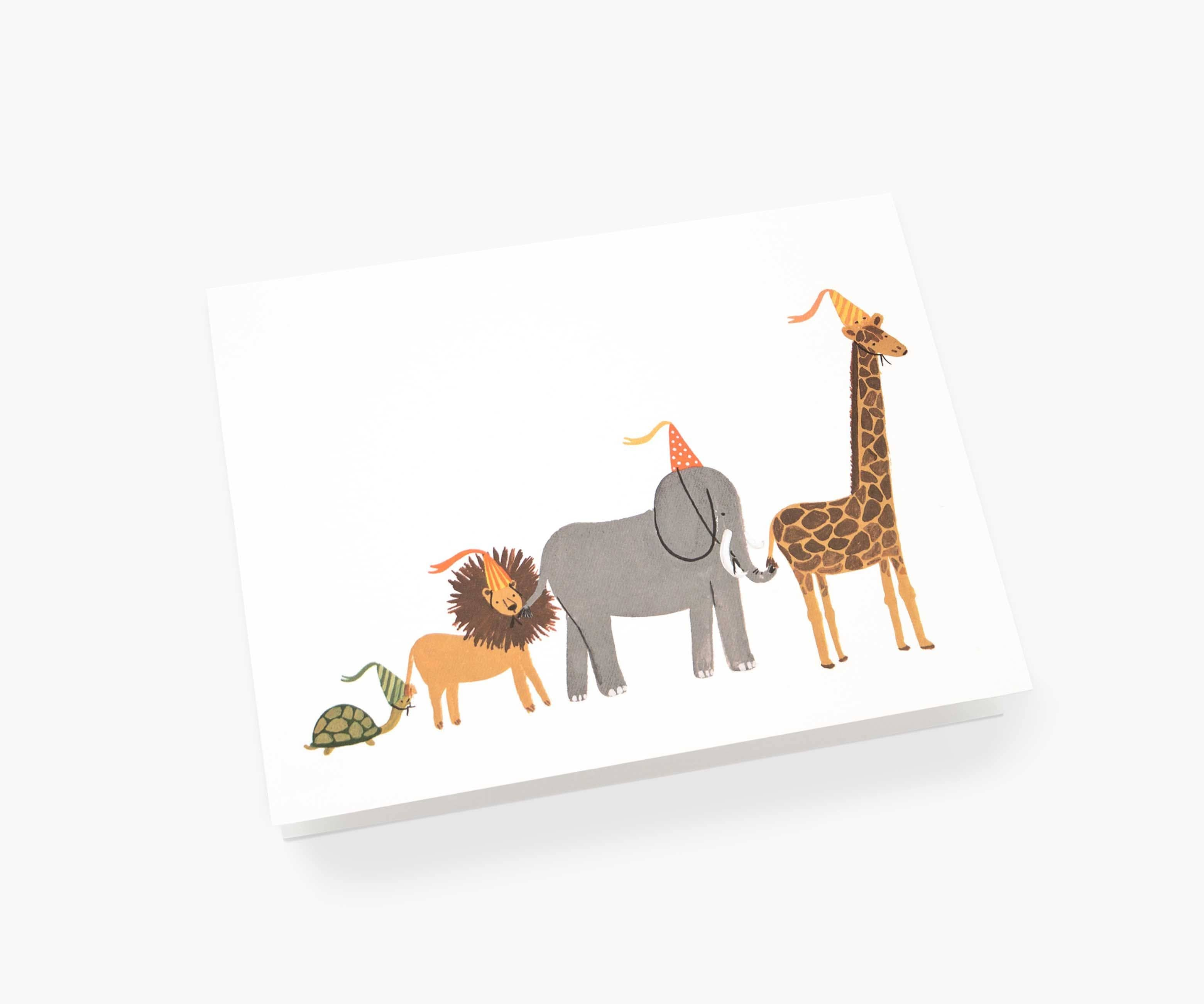 Animal Party Parade Card