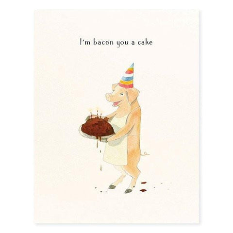 Party Pig Bacon You a Cake Birthday Card