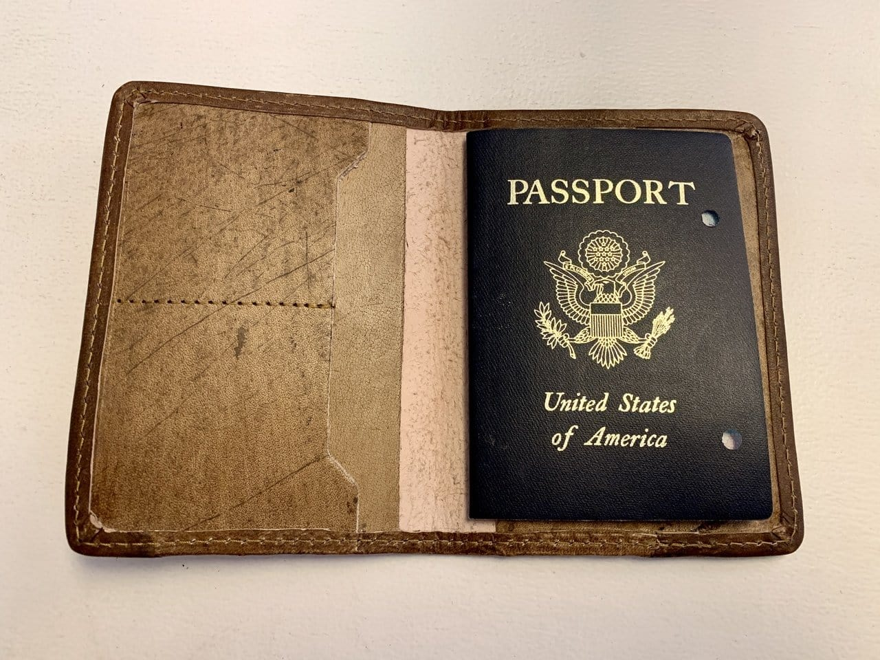 Leather Passport Cover - Life is Short