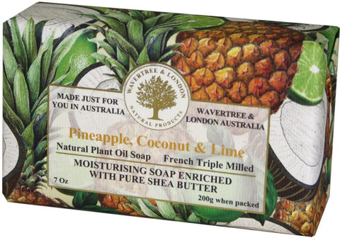 Wavertree & London Bar Soap 7oz - Pineapple, Coconut and Lime
