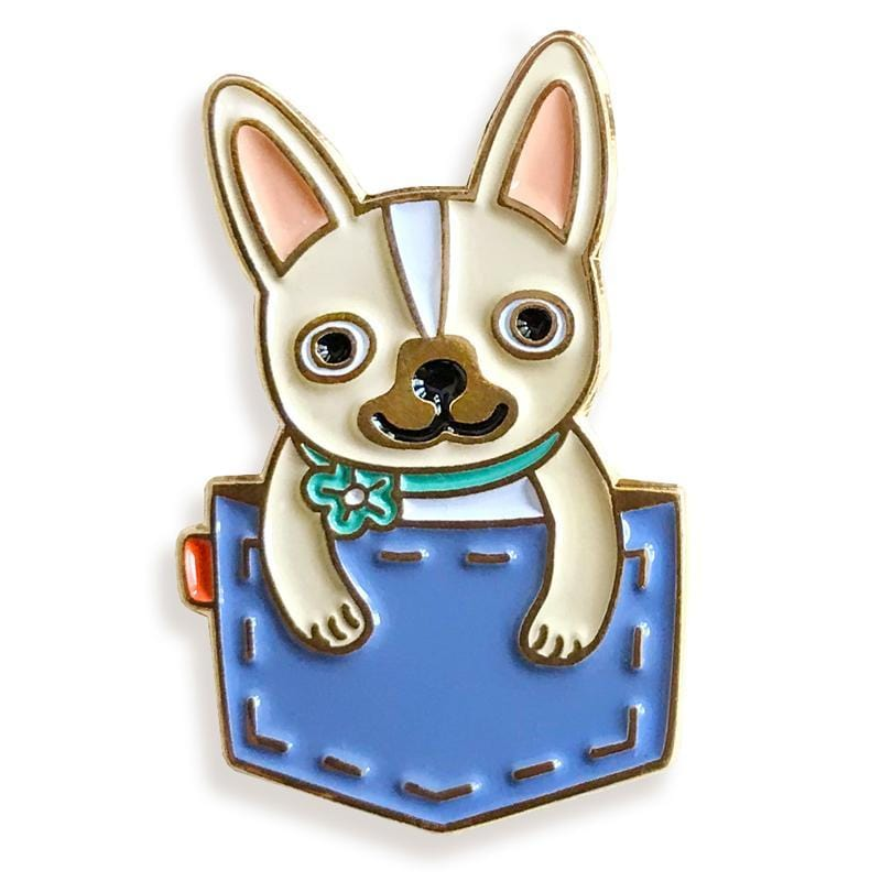 Pin Pals - Pocket Frenchie Cloud Blue