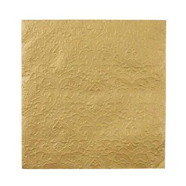 Party Porcelain Gold Embossed Detail Napkin