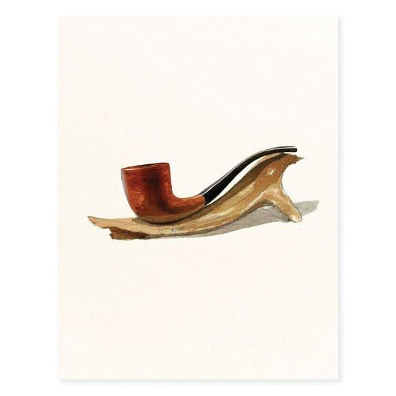 Professor Yardley Pipe on Antler Card