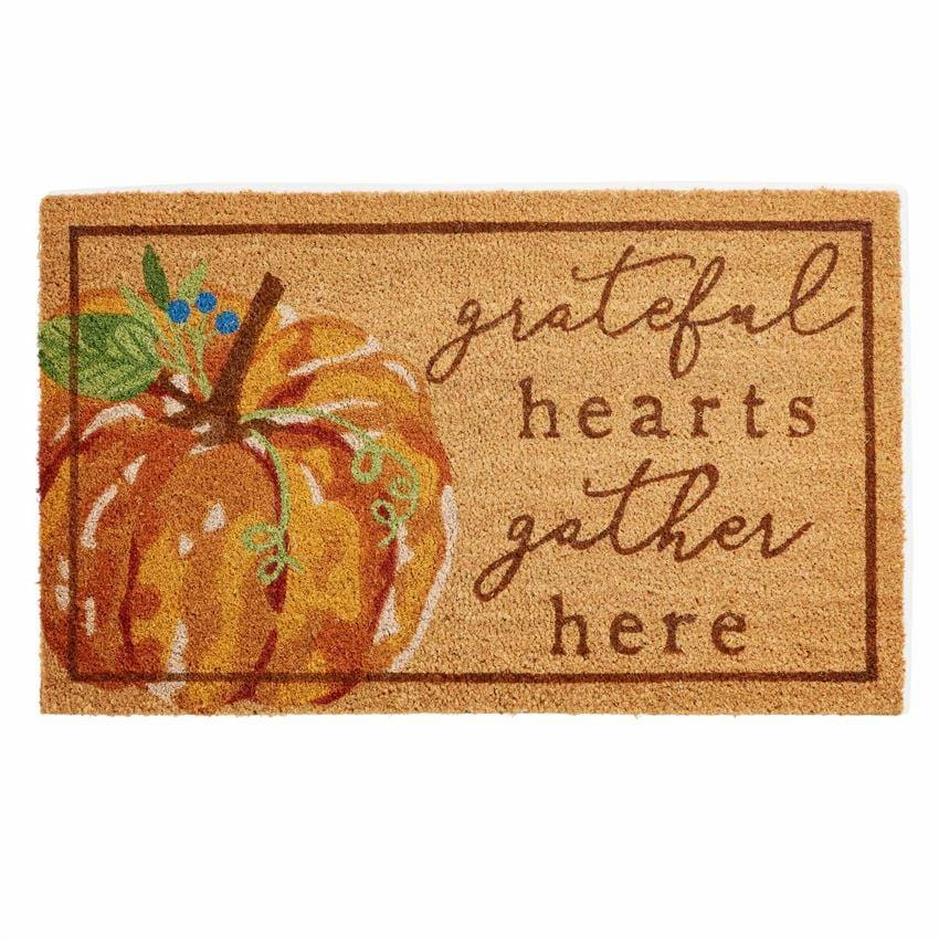 Grateful Pumpkin Doormat