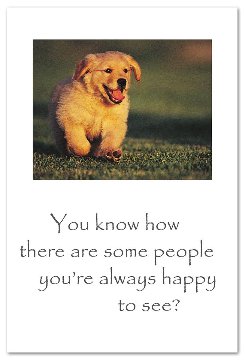 Puppy Running Friendship Card