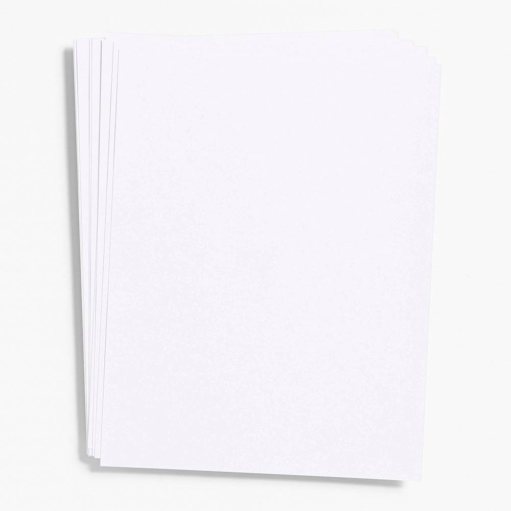 "Pure White Paper 8.5"" x 11"" (Cover Weight)"