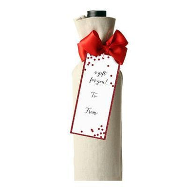 Red Confetti Assorted Gift Tags