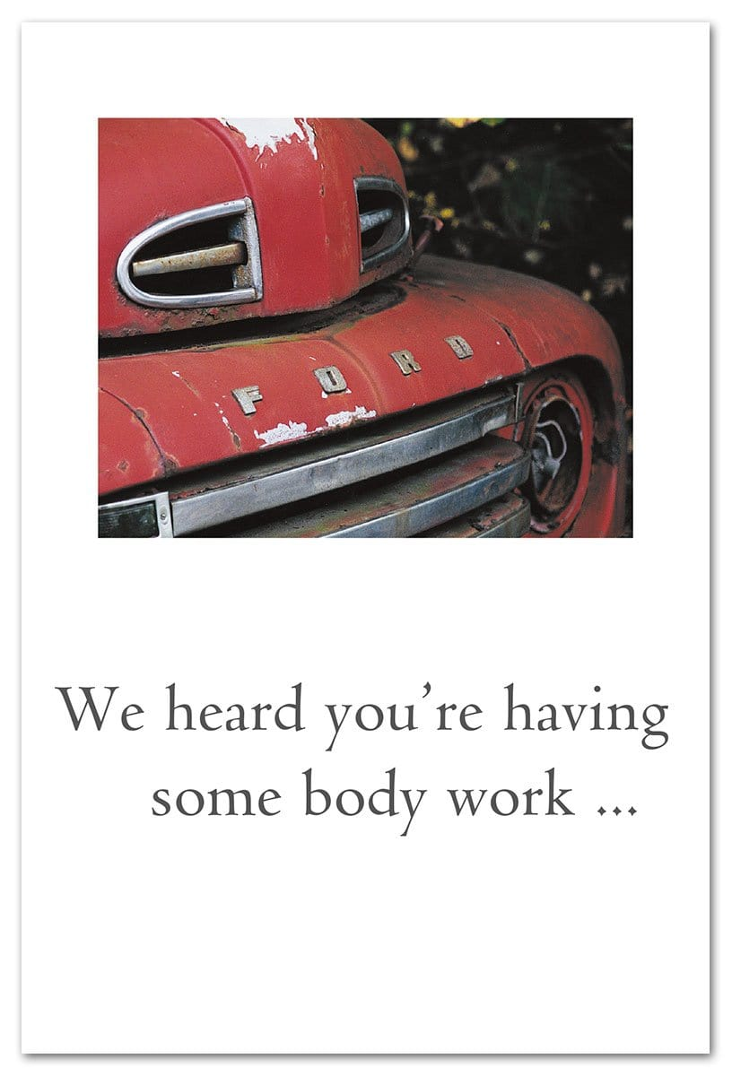 Red Ford Truck Get Well Card