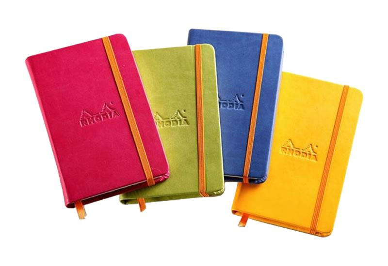 rhodia a6 hard cover rhodiarama lined notebook paper luxe