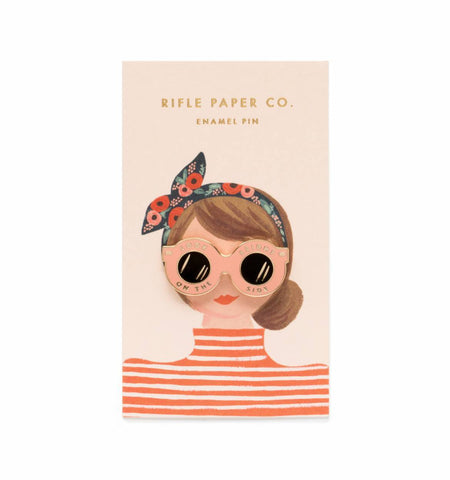 Rifle Paper Co Sunglasses Enamel Pin