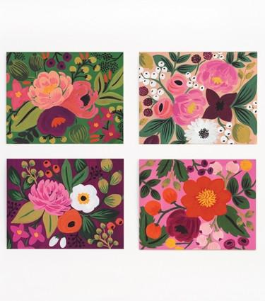 Assorted Vintage Blossom Card Set