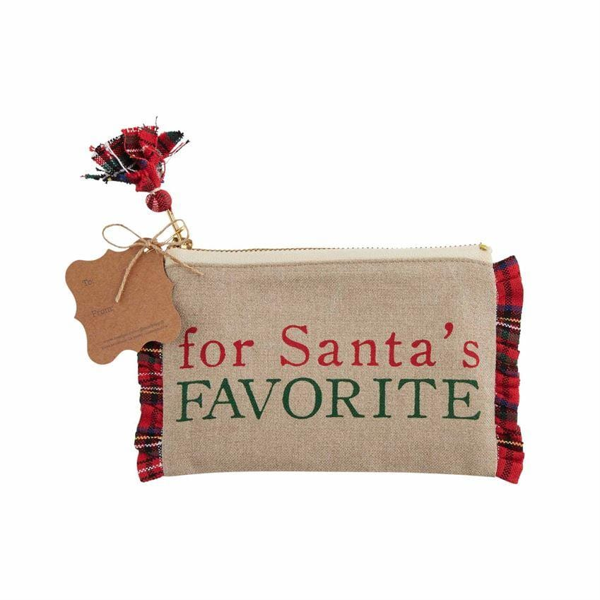 Santa's Favorite Plaid Gift Pouch